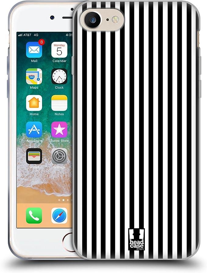 Head Case Designs Schwarz Vertikale Streifen Soft Gel Elektronik