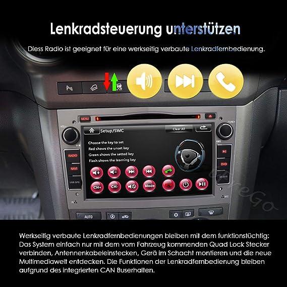 Ifrego Autoradio Für Opel Antara Astra Combo Corsa Meriva Vectra Zafira Vivaro 7 Zoll 2 Din Touchscreen Radio Autoradio Bluetooth Gps Navigation Autoradio Dvd Cd Windows Ce Autoradio Dab Grau Navigation