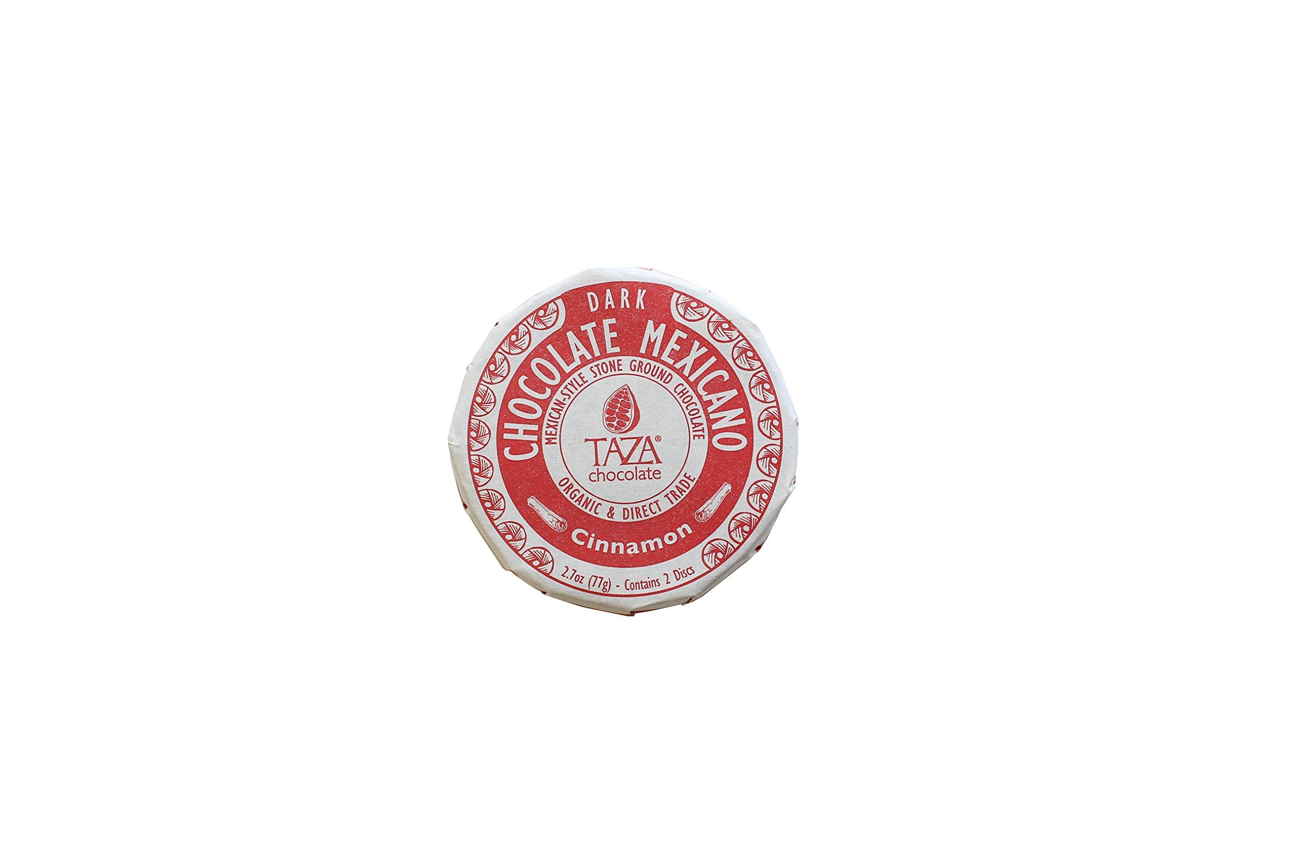 Taza Chocolate Mexicano Disc, 50% Dark Organic, Cinnamon, 2.7 Ounce