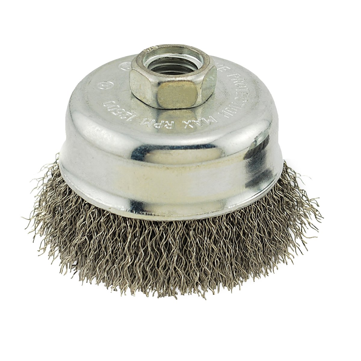 IVY Classic 38910 3 Inch x 5 8 Inch 11 Arbor Stainless Steel Crimped Wire Cup Brush 0.012 Inch Coarse 1 Card