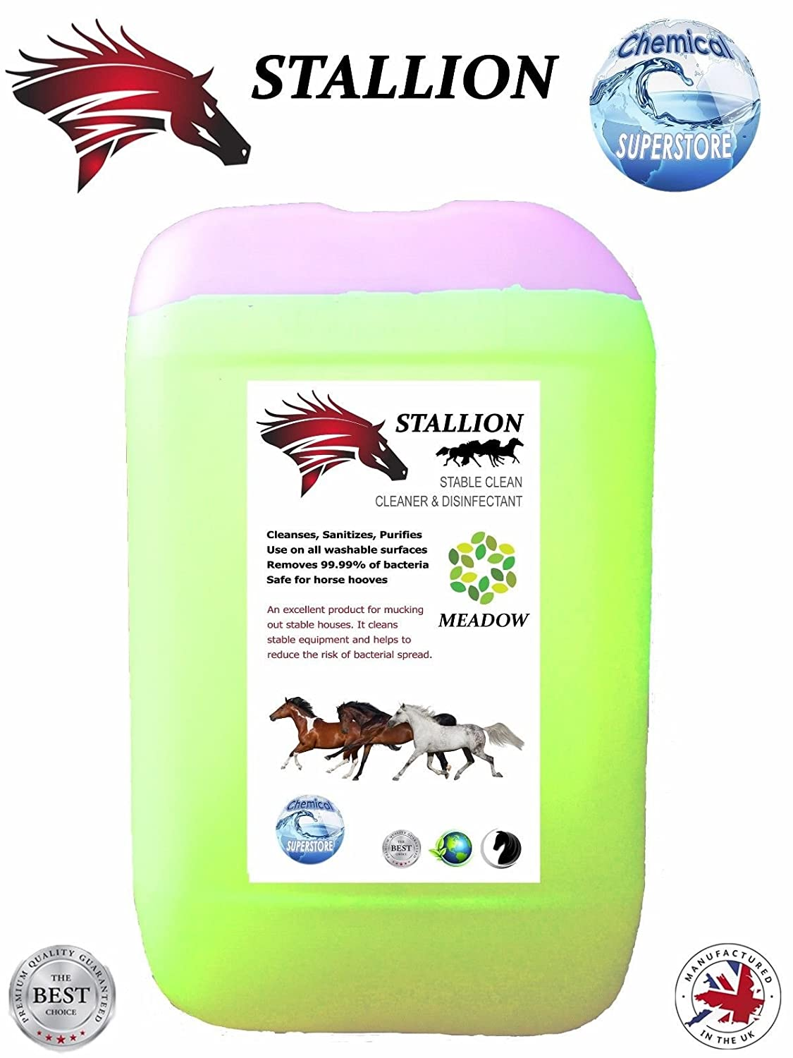 STALLION Stable Cleaner Disinfectant Deodoriser MEADOW 25L