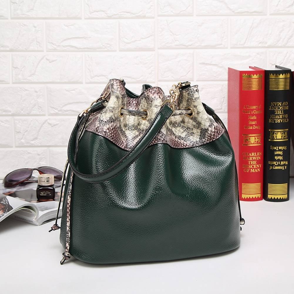 Serpentine Eimer Tasche Tragbare Schulter Messenger Bag Mode Handtaschen grau