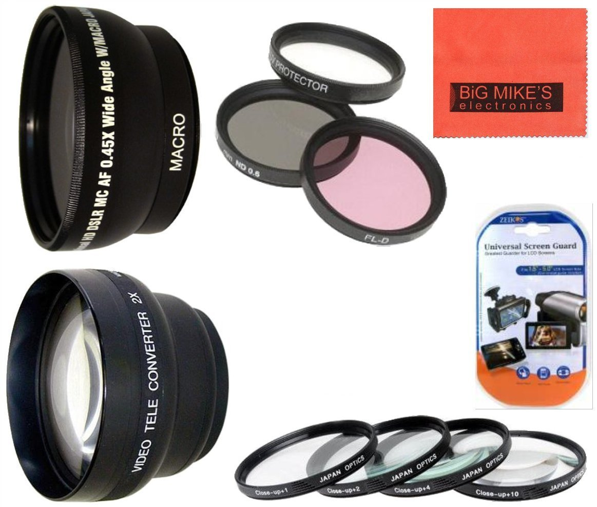 58MM Deluxe Lens Kit For Nikon DF, D90, D3000, D3100, D3200, D3300, D5000, D5100, D5200, D5300, D5500, D7000, D7100, D300, D300s, D600, D610, D700, D750, D800, D810 Digital SLR Cameras Which Has Any Of These Nikon Lenses 35mm
