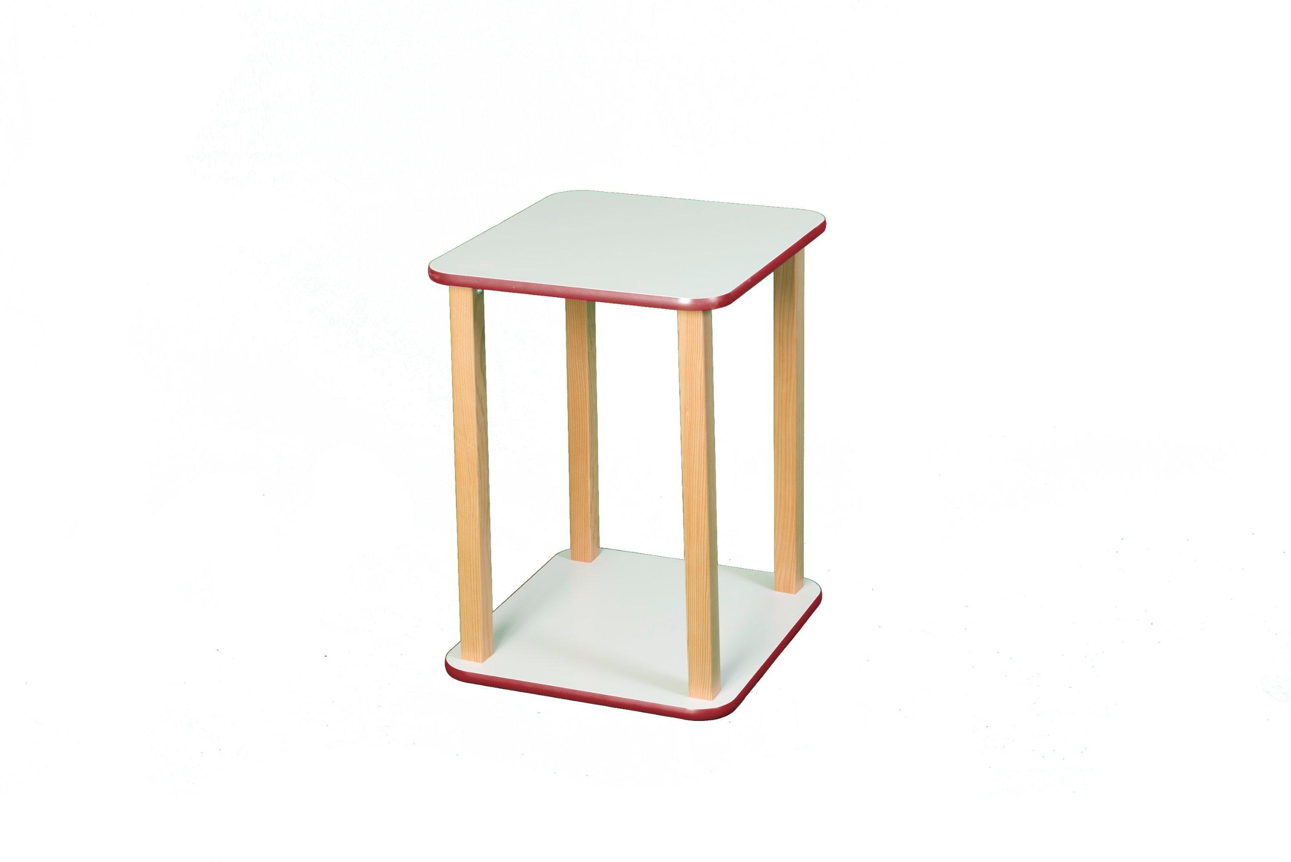 Wild Zoo Furniture CPU and Printer Stand, White/Red
