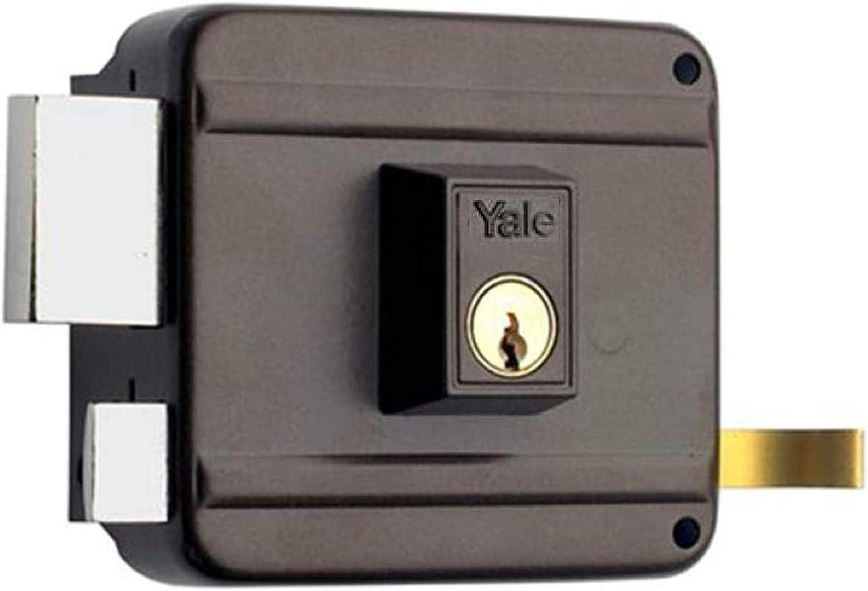 Yale 1250120IHP. Cerradura De Sobreponer, Hierro Pintado, Entrada 60 mm