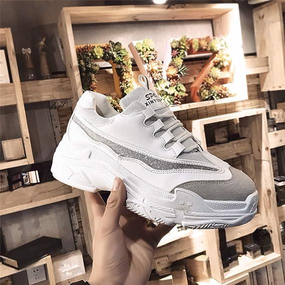 ❤ Zapatos Deportivos Plataforma Mujer Tacones, Zapatos Casuales Zapatos Mujer Salvaje Ocio Letras en Blanco y Negro Absolute: Amazon.es: Ropa y ...