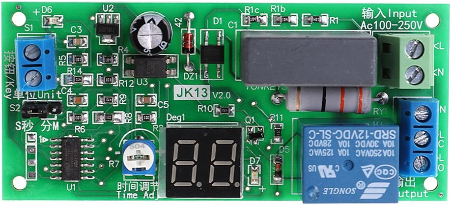 AC 220V 230V Adjustable Cycle Delay Time Timer Relay ON OFF Switch Loop Module