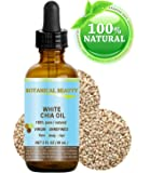 "WHITE CHIA OIL. 100% Pure/ Natural Cold Pressed Carrier Oil. 2 fl.oz-60 ml. For Skin, Hair, Lip and Nail Care. ""A remarkable and stable source of omega-3, 6 & 9, B-vitamins and minerals"""
