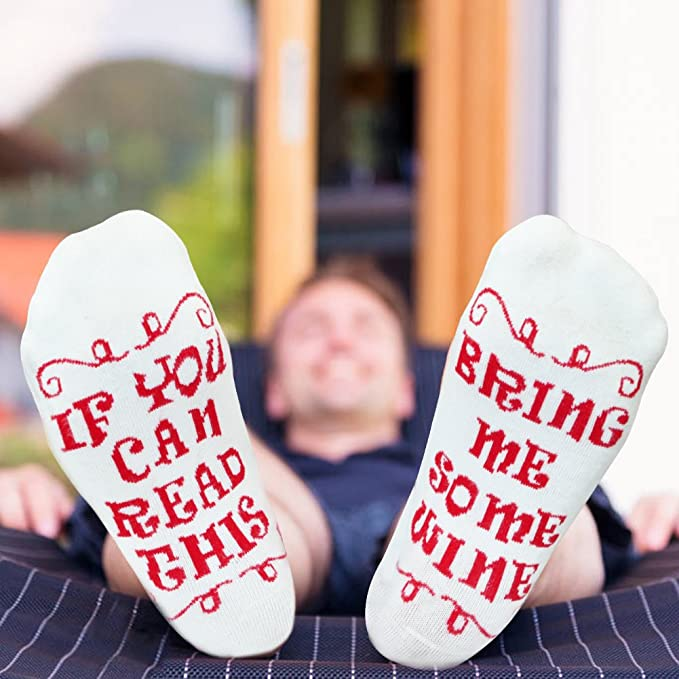 XIKEZAN Funny Wine Socks Birthday Gift Retirement Gifts For Women Mom W Saying If You Can