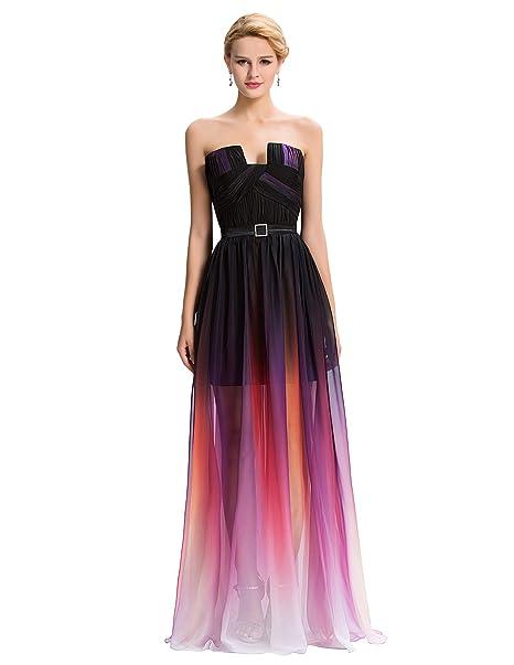 Quissmoda vestido corto largo fiesta, noche, gala, talla 34, color tonos negros