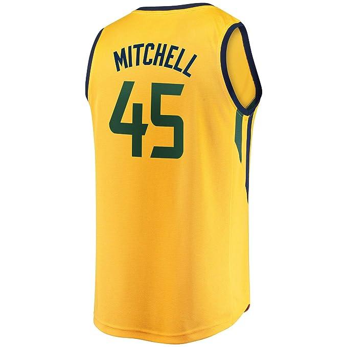 pretty nice 09b71 82ea1 Amazon.com: CTDream Men's Basketball #45 Donovan Mitchell ...