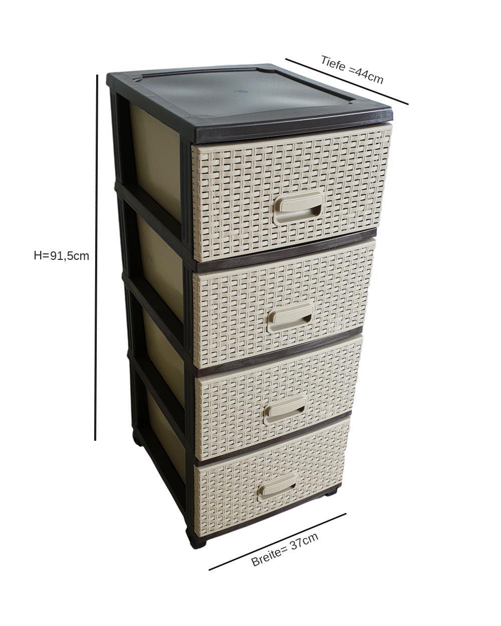 Kaiser de Comercio cajón Armario Roll Container en ratán de ...