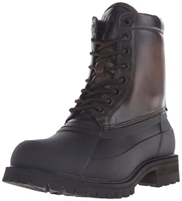 FRYE Men's Alaska Lace Up Rain Boot, Stone/Multi, ...