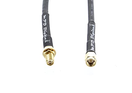 Antenna Extension Cable US Made LMR240 Coaxial cable with SMA male and SMA female Connectors |