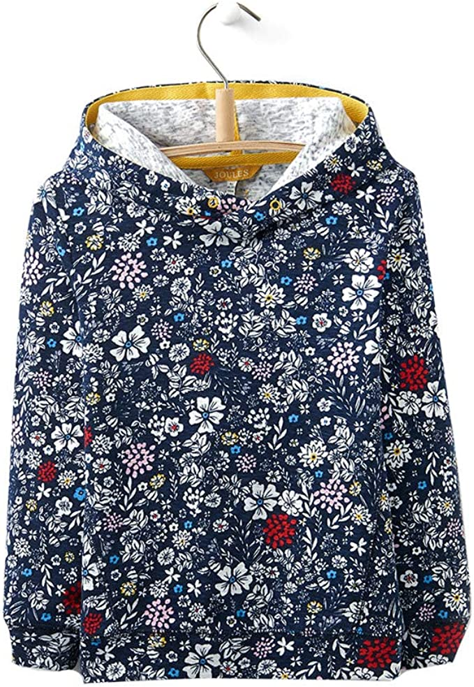 Joules Hooded Sweatshirt French Navy Ria Ditsy