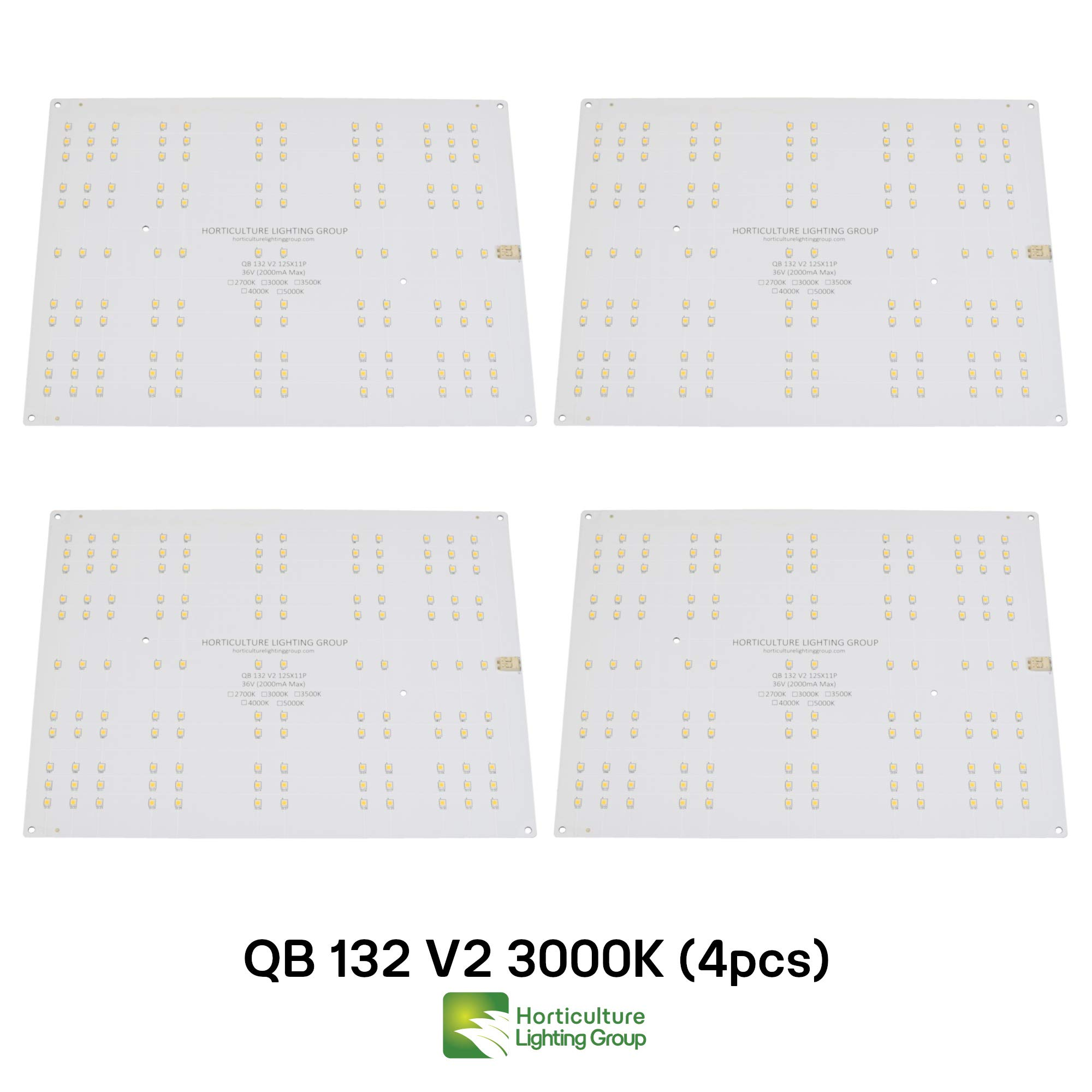 Horticulture Lighting Group 4X QB132 V2 Quantum Boards (3000K) by Horticulture Lighting Group