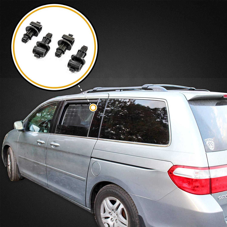 Michaelia Auto 2005-2010 Compatible with Honda Odyssey Black 4 Sun Shade Hook Sliding Door Clip Kit