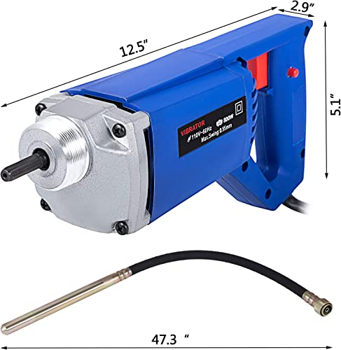 Mophorn 800W Hand Held Electric Concrete Vibrator 4200 VPM 3 4 HP with 3.9 FT Long Shaft Concrete Vibrator Motor for Remove Air Bubbles and Level Concrete