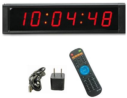 """ganxin multifuncional 1 """"alta 6 dígitos LED reloj de pared, con cuenta atrás"""
