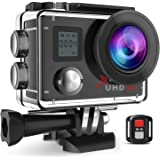 "Campark Action Camera Waterproof 4K Wifi Sport Cam 2"" LCD Screen 170° Wide Angle Underwater Camcoder with Remote Control 2 Batteries IP68 Waterproof Case for Gopro Camera"