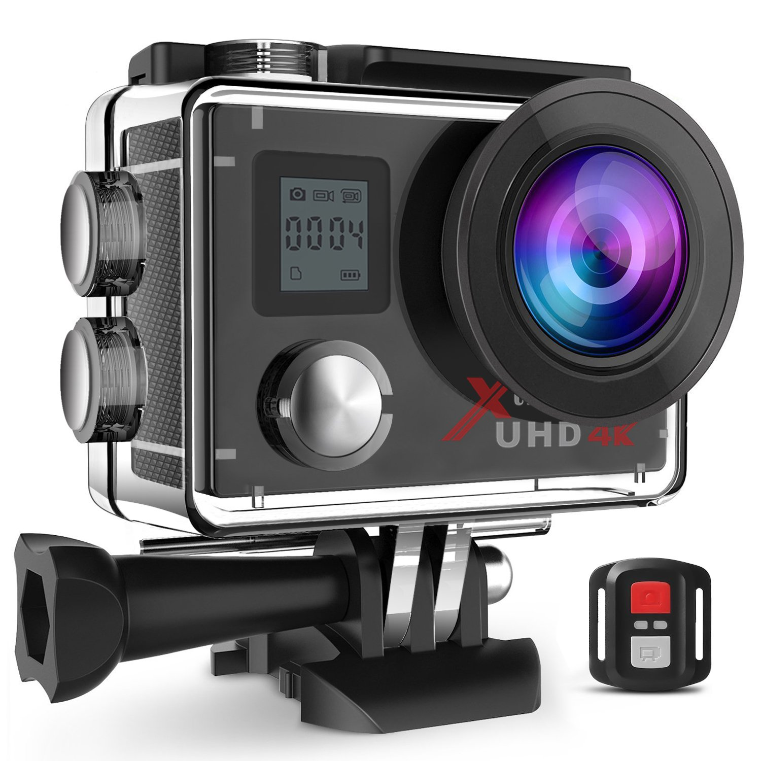 Campark ACT76 Action Cam WiFi Sports Camera Ultra HD Waterproof DV Camcorder Sony Sensor 2 Pcs Rechargeable Batteries