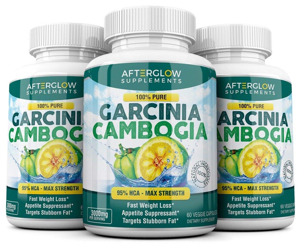 Pure Garcinia Cambogia Extract – 95 HCA 3000mg Capsules – Best Weight Loss Supplement – Burn Fat Boost Metabolism, Highest Potency Diet Pills for Men Women – 3 Month Supply
