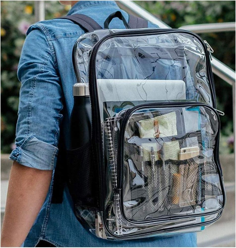 Mochila transparente ONEGenug Mochila escolar Clara de PVC Mochila de viaje Bolsa claro Organizador al aire libre Impermeable Ligero para hombre y mujer