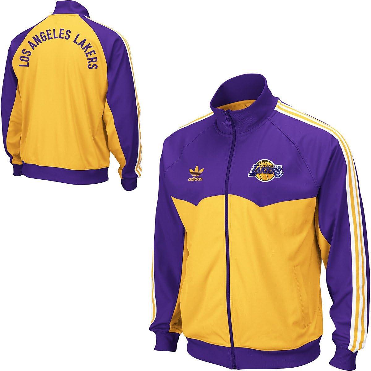 adidas Los Angeles Lakers Originals Round Off Track Jacket ...