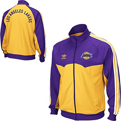 problema seguramente peine  adidas Los Angeles Lakers Originals Round Off Track Jacket Chaqueta:  Amazon.es: Deportes y aire libre