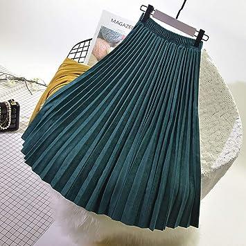 HEHEAB Falda,Las Mujeres Verde Elegante Falda Maxi Cintura Alta ...