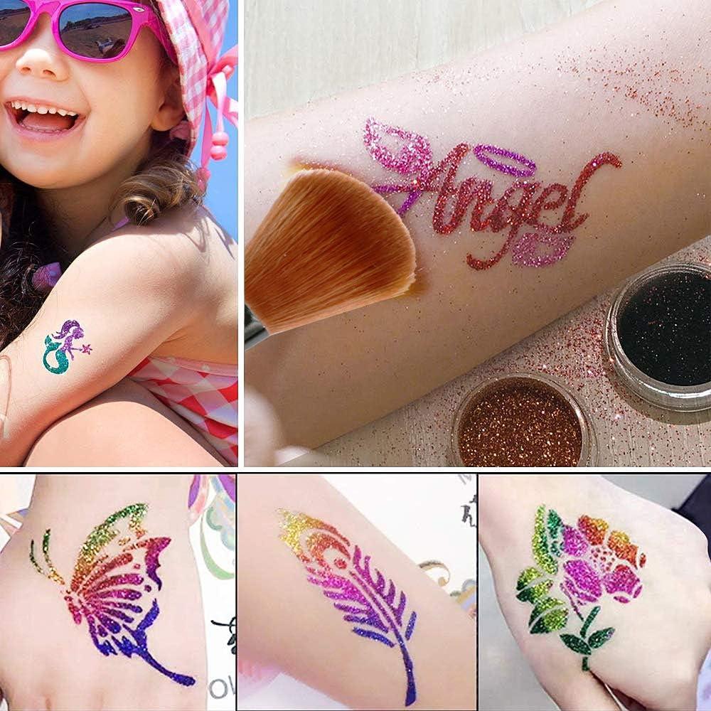 Set de Tatuaje con Purpurina, Sinicyder Set de Tatuajes con ...