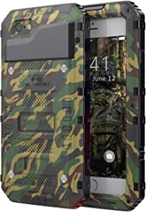 Beasyjoy Phone Case Compatible with iPhone 7 Plus iPhone 8 Plus, Heavy Duty Case with Built-in Screen Full Body Waterproof Shockproof Tough Rugged Hybrid Military Grade Defender (Camo)