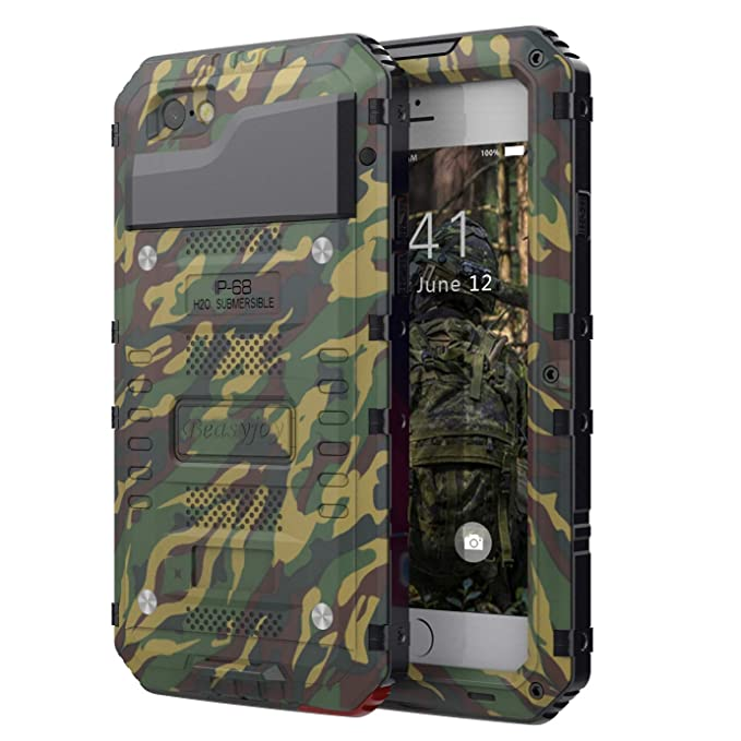 big sale 825d7 07f20 Strong Case Compatible with iPhone 6 / 6s,Beasyjoy Military Grade Durable  Metal Case with Built-in Screen Protective Heavy Duty Cover Dropproof ...