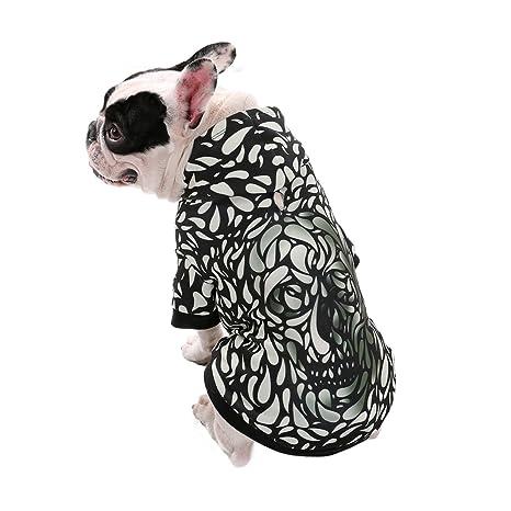 Ohana Pet - Sudadera con capucha para perro, impresión digital, efecto 3D, con