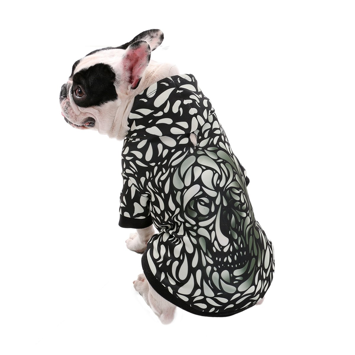 PAWZ Road Realistic 3d Digital Print Dog Hoodie, Pet Pullover Hooded Sweatshirt Hoodies for Small Medium Large Dogs