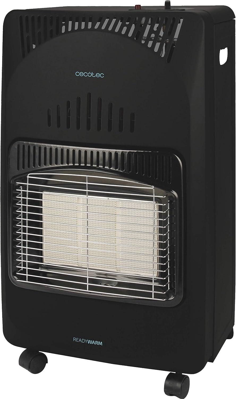 Cecotec Ready Warm 4000 Slim Fold - Estufa Plegable, Cerámica, 3 Modos, Bombonas de 10 Kg, Triple Sistema de Seguridad, 4 Ruedas multidireccionales, 4200 W