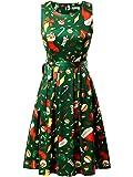 KIRA Womens Christmas Dress Sleeveless A-line Party Cocktail Dress.