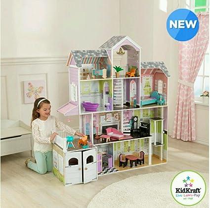 amazon com kidkraft grand estate dollhouse 26 pieces of furniture