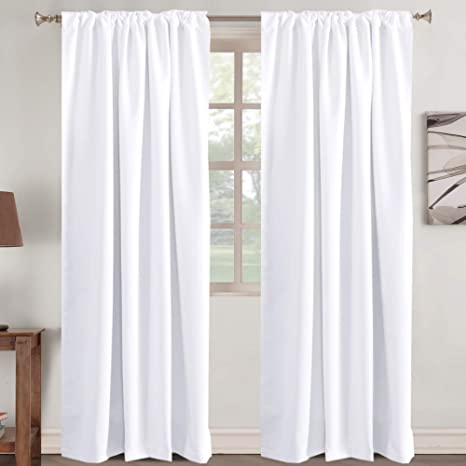 White Teeter-Totter Thermal Insulated Blackout Curtains