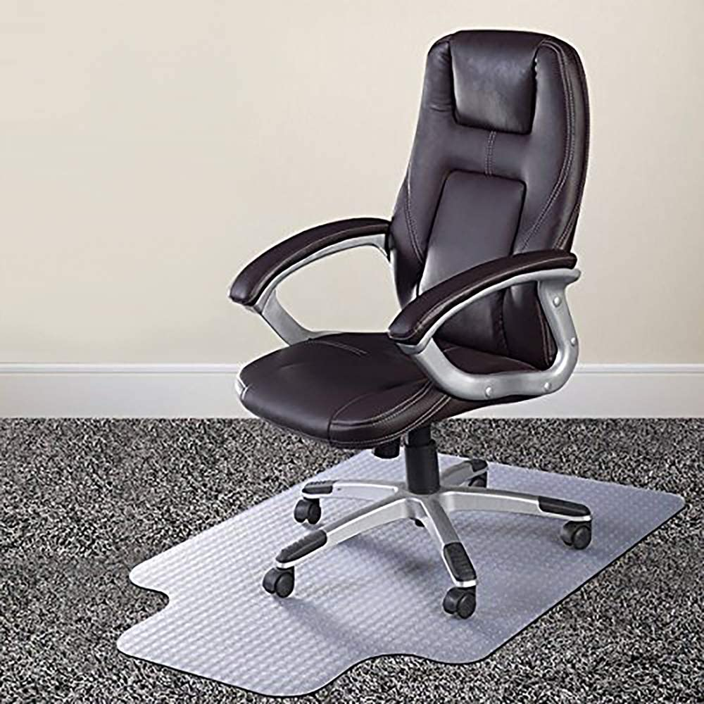 """Azadx Chair Mat for Carpets, Transparent Low/Medium Pile Carpets Computer  Chair Floor Protector for Office and Home, 8"""" x 8"""" with Lip"""