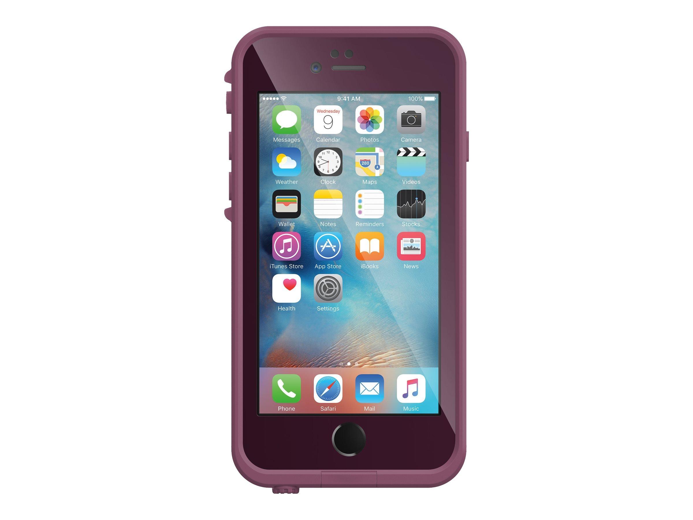 Lifeproof FRĒ SERIES iPhone 6 Plus/6s Plus Waterproof Case (5.5'' Version) - Retail Packaging - CRUSHED (STOMP PURPLE/PADDLE PURPLE/SKY FLY BLUE)