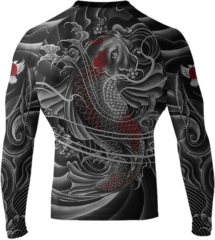 Raven Fightwear Mens Irezumi 2.0 Rash Guard MMA BJJ Black