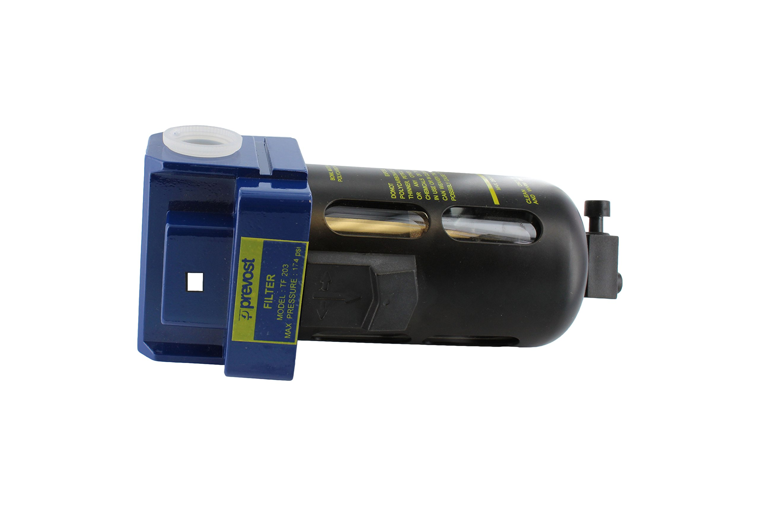 Prevost TF 203 Compressed Air Inline Moisture Trap Water Separator Filter 1/2'' FNPT