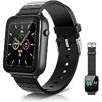 ELEGIANT SmartWatch 1.54 '' IP68 smartwatch met touchscreen, slimme activiteitsarmband heren dames voor sport…