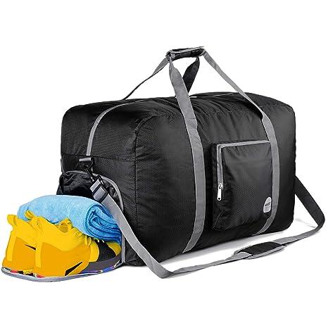 717467a9e7a9 Amazon.com: WANDF 85L Foldable Travel Duffel Bag Luggage Sports Gym ...