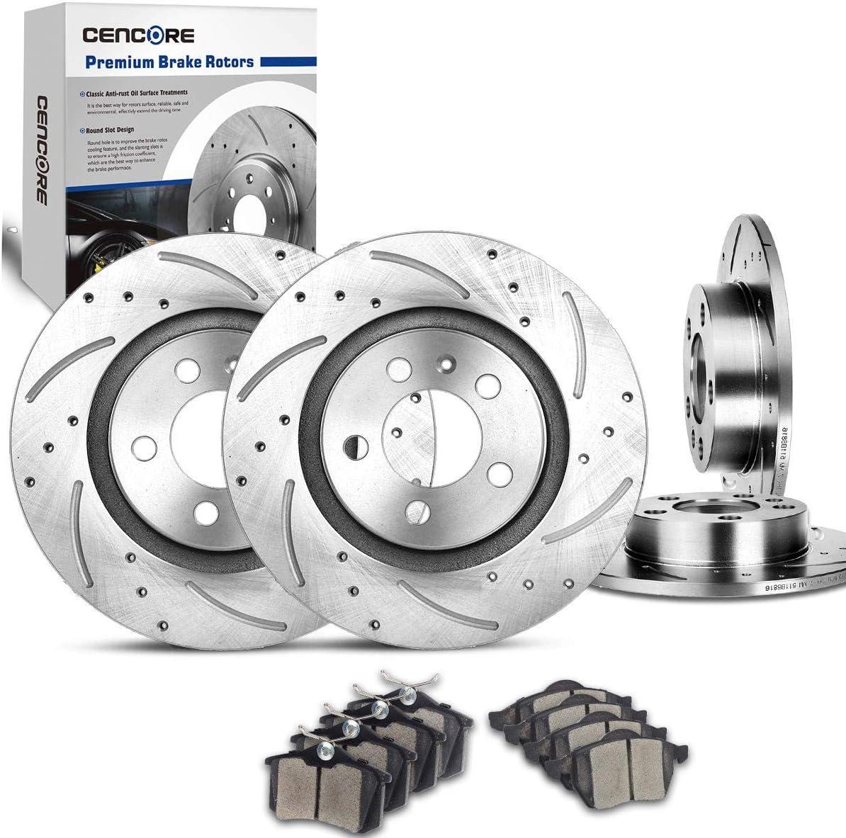 2016 2017 Volkswagen Jetta See Desc. OE Replacement Rotors w//Ceramic Pads F+R