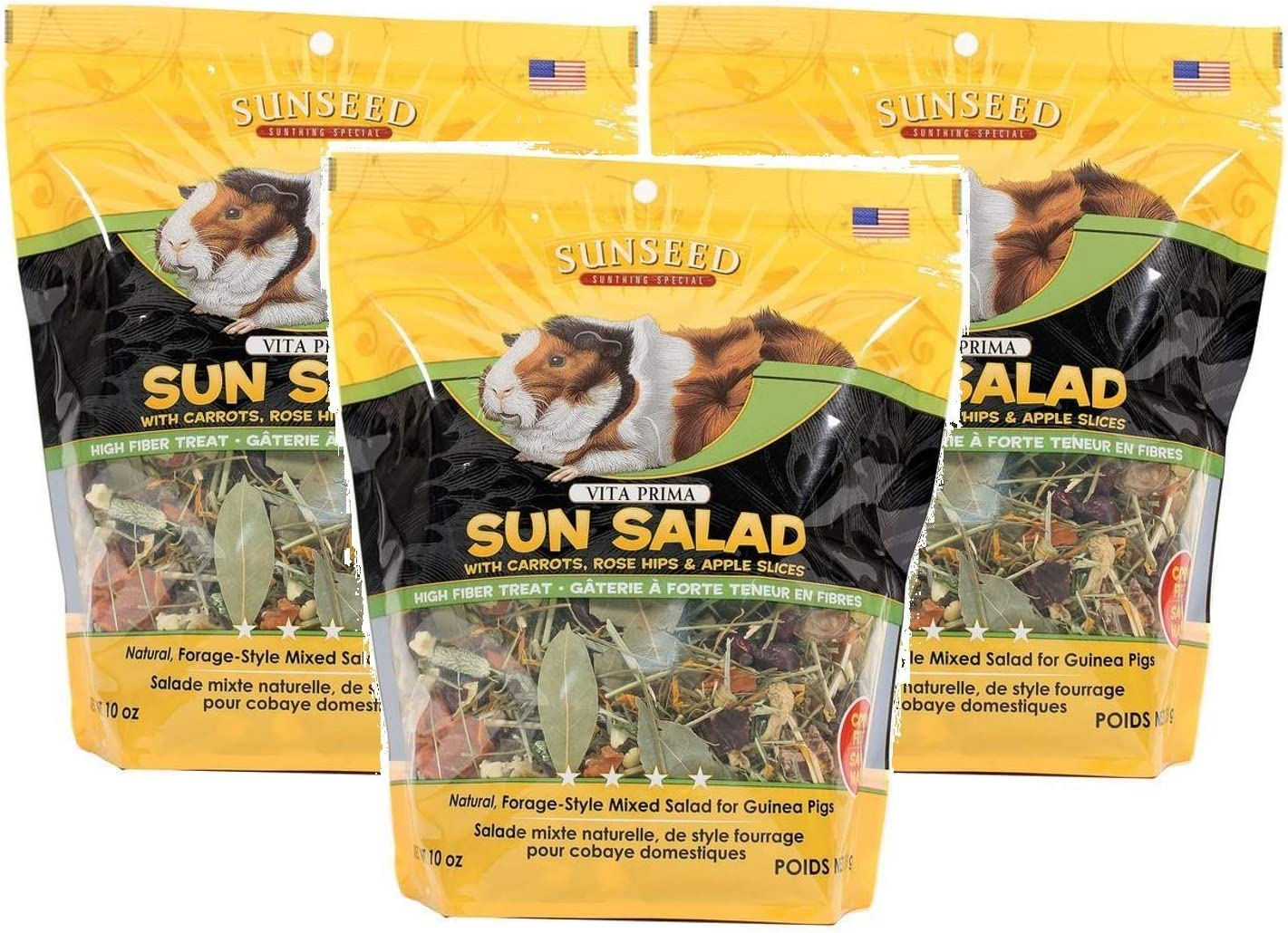 Sun Seed Vitakraft Vita Prima Sun Salad Treat for Guinea Pigs (Pack of 3)