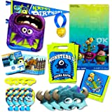 Monsters Inc Party Supplies Ultimate Set -- Plates, Cups, Napkins, Table Cover, Stickers and More