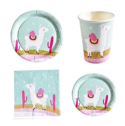 Amazon.com: Astra Gourmet Llama Party Supplies – Juego de ...