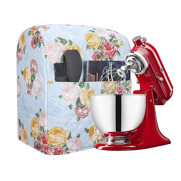 Kitchen Aid Mixer Cover Accessory, Stand Mixer Attachments Cover with Pockets, 5-8 Quart Mixer Dust Cover Compatible with Kitchenaid Mixers, Hamilton Mixers, Fits All Tilt Head & Bowl Lift Models TFC3